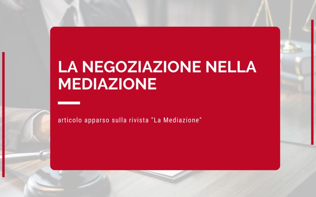 la negoziazione nella mediazione